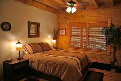 Master Bedroom with full bath, downstairs