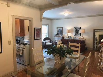 Photo for Vintage One Bedroom Uptown Apartment For Super Bowl Weekend