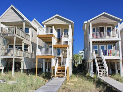 """Photo for Ready After Hurricane Michael! FREE BEACH GEAR! Beachfront, Pets OK, Private Boardwalk, 3BR/3.5BA """"Beauty And The Beach"""""""