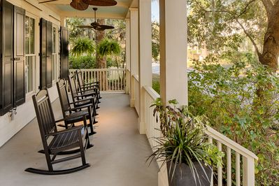 Spend your days reading and rocking on the front porch....so relaxing!