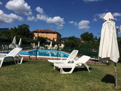 Photo for Apartment in farmhouse with use of swimming pool and wifi in the heart of the countryside.