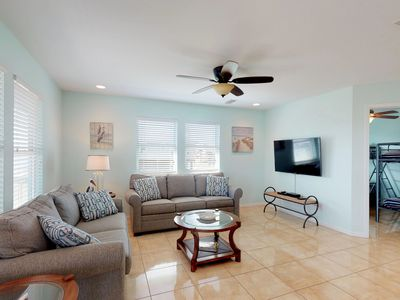 Photo for NEW LISTING! Lovely dog-friendly villa with great beach views & deck
