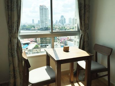 Photo for River view 42 sq.m.,BTS,Pool,wifi,A/C