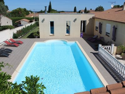 Photo for Villa of 190 m2 full foot with swimming pool 10x5, on a plot of 1100m2.