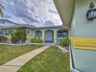 Water View  home with private pool and heated spa with boat deck clearwater