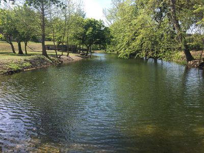 Just steps from the home private Indian Creek waterfront