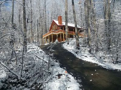 Our First Snow in the new Cabin! Photo credit Miguel! December 9, 2017