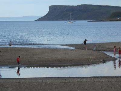 Ballycastle Beach, Fair Head, and Scotland beyond viewed from our front window