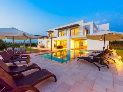 Photo for This 3-bedroom villa for up to 8 guests is located in Chania Region and has a private swimming pool,