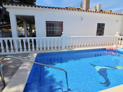 Photo for Beautiful house with private pool 800m from the beach, in Calafat