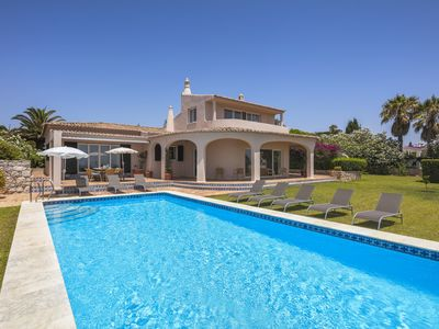 Photo for Spacious villa with panoramic sea views and heatable private pool