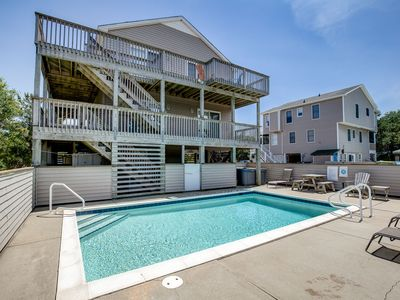 Photo for Sea Glass | 1499 ft from the beach | Private Pool, Hot Tub | Duck