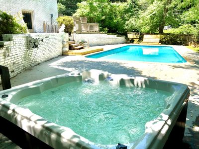 Photo for NEW!! Large Spacious Home w/ Private Pool*HotTub*BBQ*Foosball* in Stone Mountain