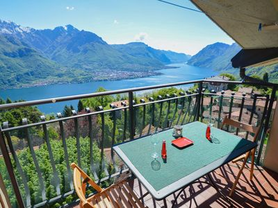 Photo for Gioiosa apartment with terrace with magnificent lake view!