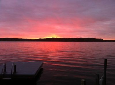 ONE OF THE MANY AMZING SUNSETS FROM THE DOCK!