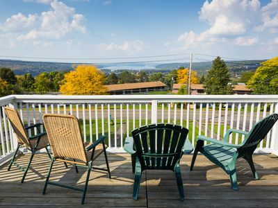Photo for Full treetop setting apartment with sweeping views of Cayuga Lake and Ithaca