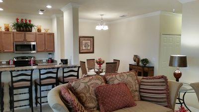 Top Floor Condo on Golf Course, Sunset River View! Professional Furnishings