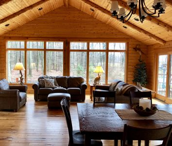 The Cabin at Saltcreek Pond ~nestled in the tranquil woods of Amish Country