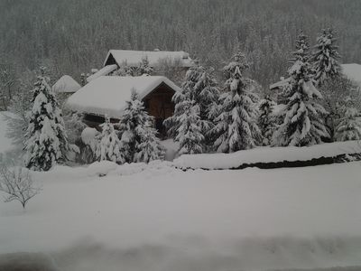 Photo for Renovated cottage, sauna, beautiful garden in the Val d'Arly near Megeve and Aravi