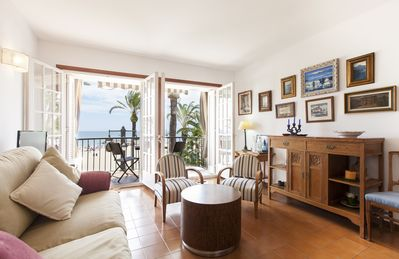 Photo for Beach front Apartment , fantastic sea views, 2bedrooms, 2 bathrooms.