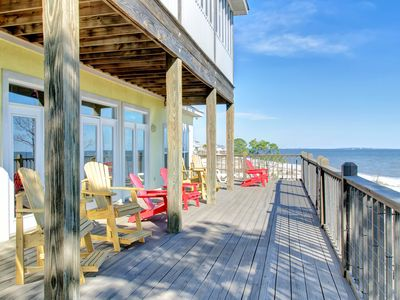 Photo for Gulf-front home in a gated community w/ easy access to the beach & amazing views