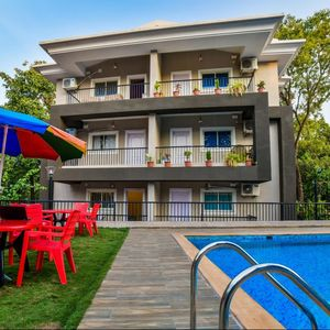 Photo for 2BHK pool view deluxe apartment near Vagator beach