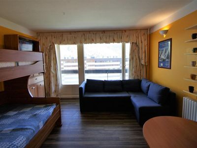 Photo for Surface area : about 28 m². 2nd floor. Orientation : South. Living room with bed-settee, 2 bunk beds