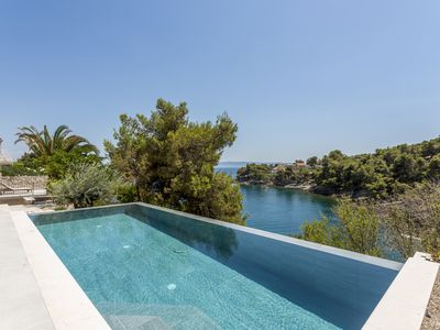 Photo for Private  heated pool ,beach front for up to 8 pax, transport from airport Split