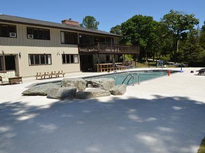 Photo for Park like setting with a private pool and hot tub, minutes to area beaches