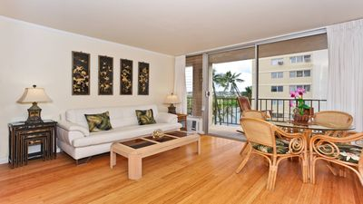Ala Wai Canal Views!  A/C, washer/dryer, dishwasher, WiFi, one parking.