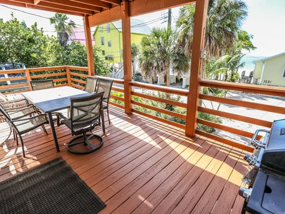 Welcome to 5238 Estero Blvd., a home on stilts just steps to the beach, with covered parking beneath.