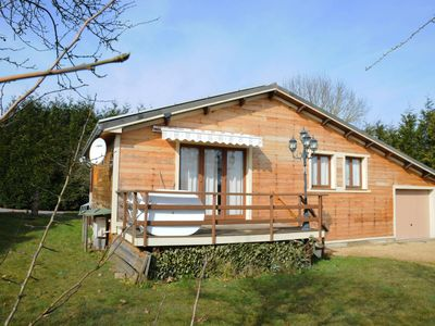 Photo for Chalet in peaceful setting offering stunning views across the green surroundings