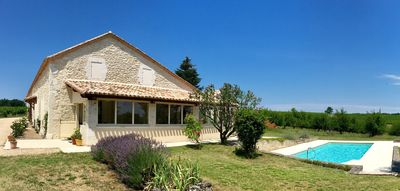 Photo for Recently refurbished farmhouse set amongst Vineyards in the Dordogne region.