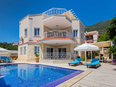 Photo for 2 Bedroom Villa with Secluded Pool , Sea Views, Rooftop Jacuzzi and Sauna