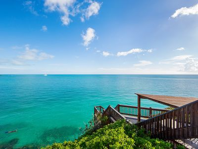 Photo for Oceanfront Villa - Private Dock for Snorkeling, 3 mins to Private Beach