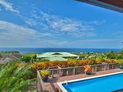 Photo for CLOSE TO TOWN! LUXURY! Sunset Ocean views! POOL/HOT TUB, A/C!