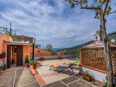 Photo for Newly-refurbished 3 bedroom apartment with large terrace, air-con near Sorrento