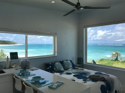 Photo for Brand New Beachfront Cottage in Boutique Resort on Deserted Pink Sand Beach