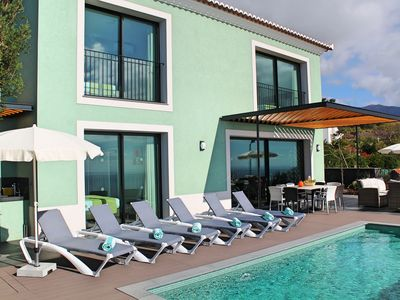 Photo for Fantastic new villa, heated pool, A/C panoramic sea-views | Eden Nature