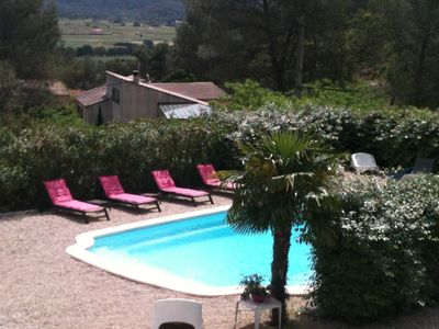 Photo for NEAR CASSIS S / SE VILLA T4 WITH PRIVATE SWIMMING POOL. CLIM.