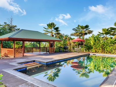 Photo for Luxury 3-Acre Garden Eco-Estate w/ Pool - 15 min to Kailua Kona