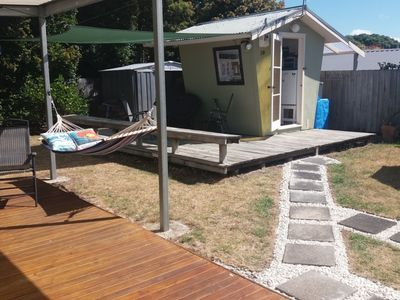 Photo for Glamping central Pauanui/RV parking facilities