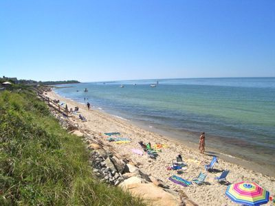 Three-minute walk brings you to this private association Brewster beach.