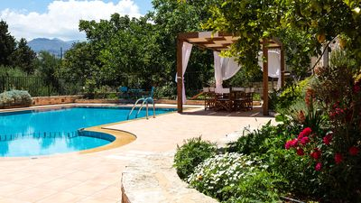 Photo for Traditional stone made villa with large swimming pool, great view and gardens!