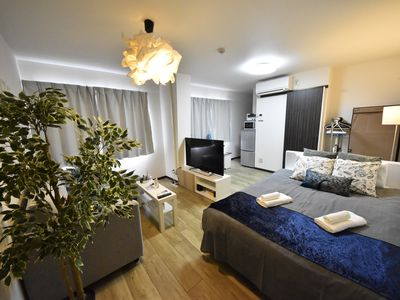 Photo for 10 minutes walk from Hakata Station # 4 ★ 5 minutes from Fukuoka Airport # 4 ★ 4 large 1R adults [3 rooms 12 people ★ free for children convenient for family, travel and business trips