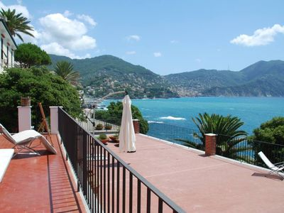 Photo for Seaside villa with large terrace with unique view of the bay and direct access to the sea
