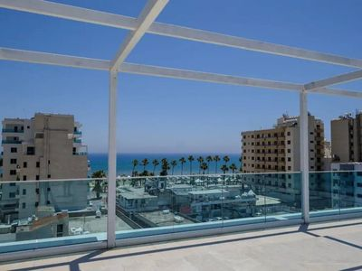 Photo for 1b Luxury Seaview Apartment - Finikoudes Beach