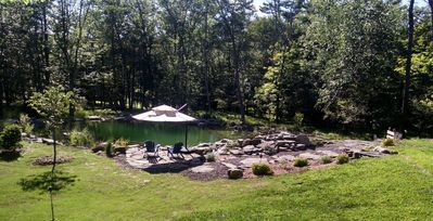 View of the pond/pool from the house