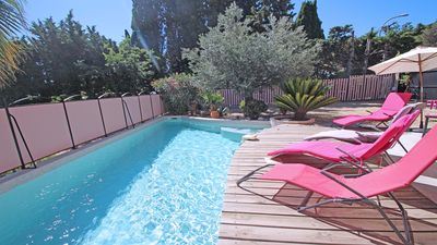 Photo for House T3 - 4/5 people - Private pool - Air conditioning - WiFi - Beach - Sainte Maxime