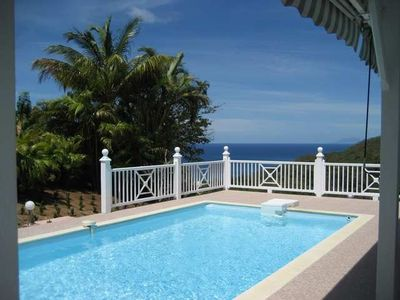 Photo for Very comfortable and spacious villa with pool, great view of the sea.